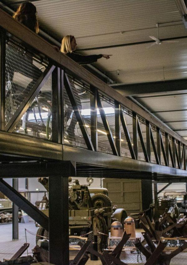 Het Oorlogsmuseum heeft een fietsbrug 2