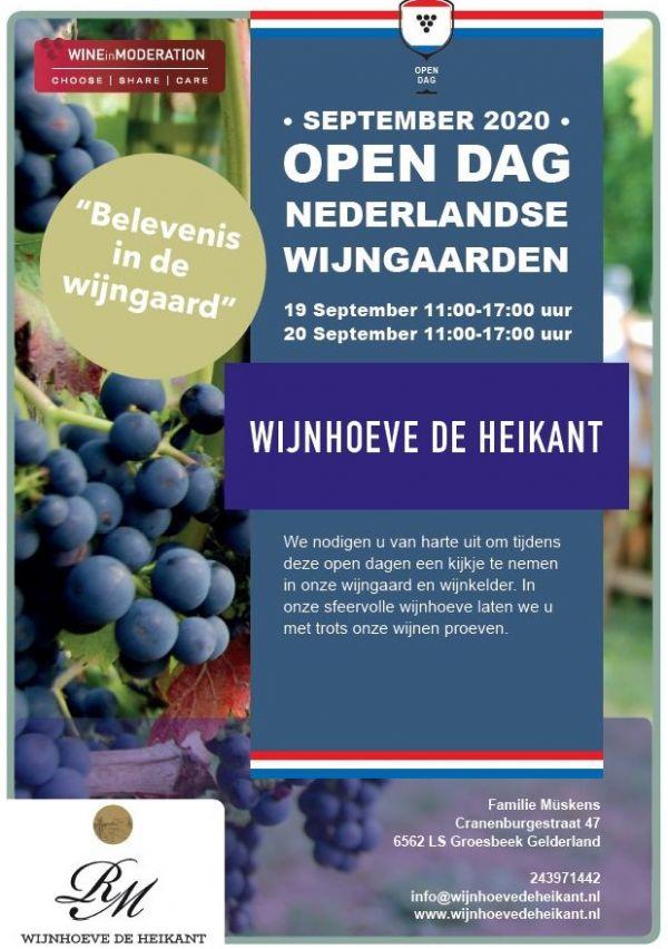 Open dagen bij Wijnhoeve de Heikant 1